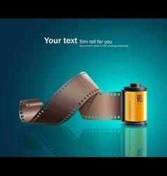 camera film roll yellow vector image