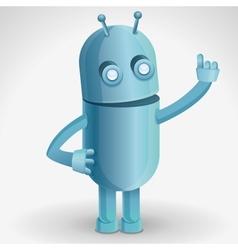 cartoon character - funny robot vector image