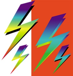 iridescent sign of lightning vector image vector image