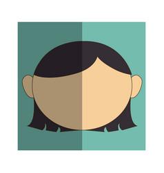 woman asian face icon vector image