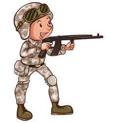 A simple drawing of a soldier vector