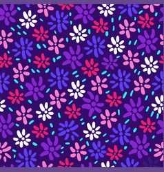 abstract flower and foliage seamless vector image
