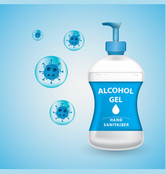 Alcohol gel hand sanitizer design antiseptic gel vector