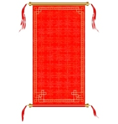 Asian scroll red and gold ornaments vector