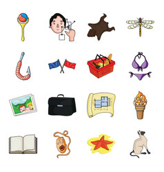 Asterisk sea catand other web icon in cartoon vector