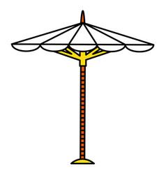 Beach umbrella isolated icon vector