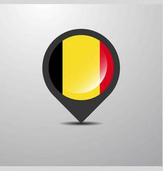 Belgium map pin vector
