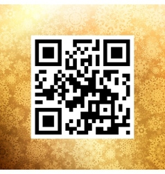Big Sale in qr code on christmas EPS 10 vector