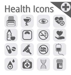 black medical icon vector image