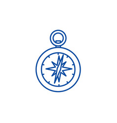 compass line icon concept compass flat vector image