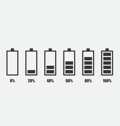 degree battery charge simple icon vector image