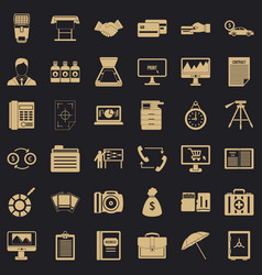 department icons set simple style vector image