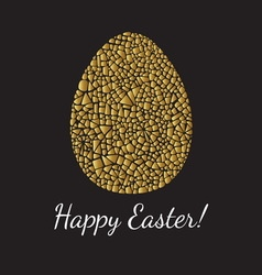 Easter greeting card with egg vector