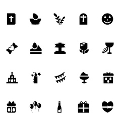 Easter icons 5 vector