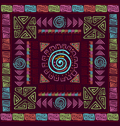ethnic colorfull background with handmade brush vector image