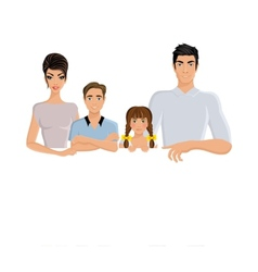 Family banner horizontal vector image