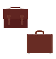 fashion mens leather bag briefcase diplomat vector image