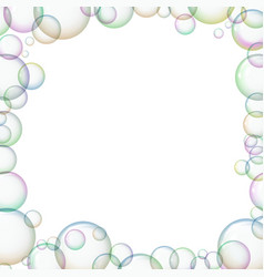 Frame with soap bubbles vector