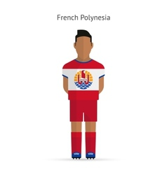 French Polynesia football player Soccer uniform vector image