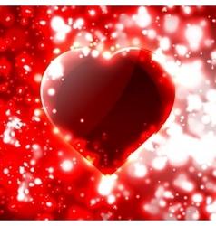Futuristic heart vector image