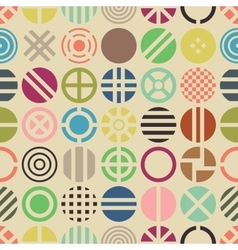 Geometric round pattern vector