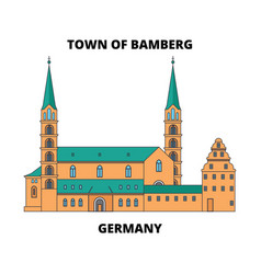 germany town of bamberg line icon concept vector image