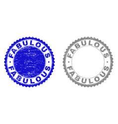 grunge fabulous textured stamp seals vector image