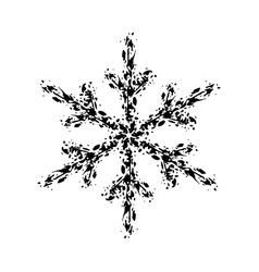 Grunge isolated snowflake vector