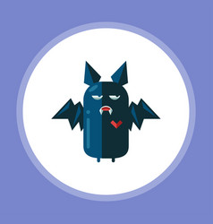 halloween bat icon sign symbol vector image