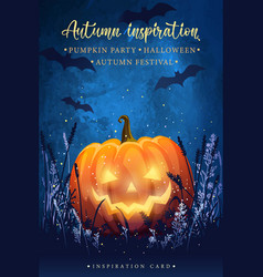 Halloween fairytale poster vector