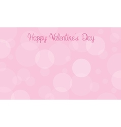 Happy Valentine Day with bubble vector image
