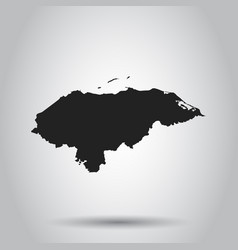 Honduras map black icon on white background vector