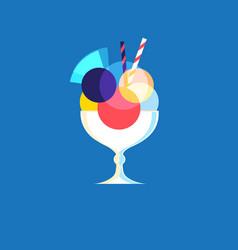 Icon of bright tasty ice cream vector