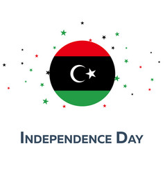 Independence day of libya patriotic banner vector