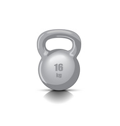 kettlebell with handle vector image