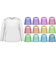 Long sleeves shirts vector image