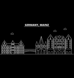 Mainz silhouette skyline germany - mainz vector
