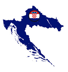 map of croatia with a label vector image