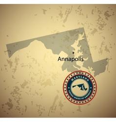 Maryland vector image