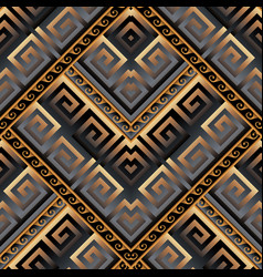 Meanders 3d seamless pattern abstract geometric vector