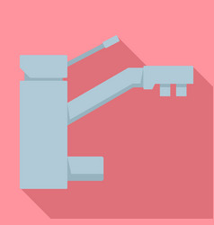 Metal house water filter tap icon flat style vector
