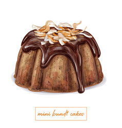 mini bundt cake vector image