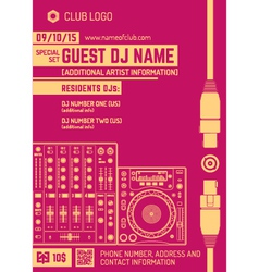 Minimal design night party flyer template vector