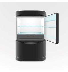 Modern two door black refrigerator vector