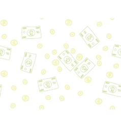 Money doodle pattern vector image