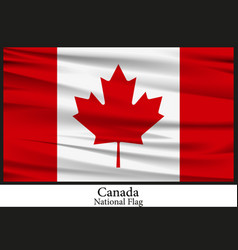 national flag of canada vector image