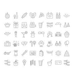 outline party icons vector image