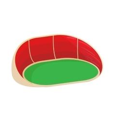 Oval stadium icon cartoon style vector