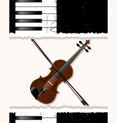 Piano and fiddle poster vector