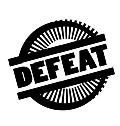 Print defeat stamp on white vector